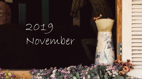 オーガニックフェイシャル2019年11月ご予約可能日