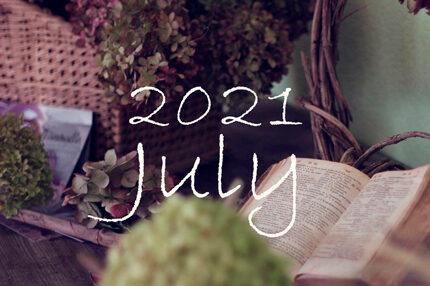 オーガニックフェイシャル7月のご予約可能日