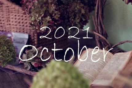 オーガニックフェイシャル10月のご予約可能日